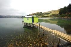 Fisherman shed in Otago Peninsula. East coast of the South Island of New Zealand near Dunedin royalty free stock photos