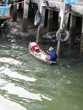 Fisherman ship in harbour Stock Photo