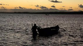 Fisherman stock video footage