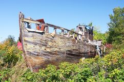 Fisherman smack wreck Royalty Free Stock Images
