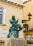 Fisherman With Snake statue and fountain in Zagreb Stock Images