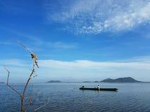 Fisherman. In songkhla lake thailand Royalty Free Stock Image