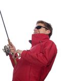 Fisherman with spinning Royalty Free Stock Photos