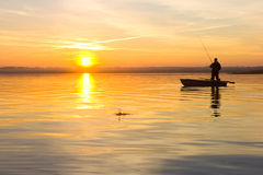 Fisherman. splash Royalty Free Stock Photos