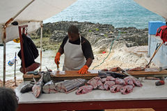 Fisherman stall Royalty Free Stock Photography