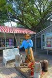 Fisherman statue in Key West, Florida. Fisherman statue on Mallory Square in Key West, Florida, USA Stock Image