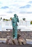 Fisherman statue in Puerto del Carmen. Lanzarote Island, Canaries, Spain Stock Photos