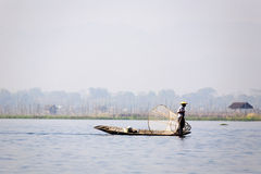 Fisherman at Inle Lake Stock Photos