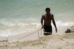 Fisherman, Stone Town, Zanzibar, Tanzania Royalty Free Stock Image