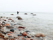 Fisherman Stones in sea water autumn Royalty Free Stock Photography