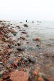 Fisherman Stones in sea water autumn Stock Photo