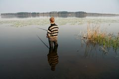 Fisherman, summer, travel 2 Royalty Free Stock Photography