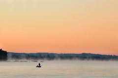 Fisherman at Sunrise Royalty Free Stock Photo