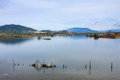 Fisherman at Tac river, Nha Trang, Khanh Hoa, Vietnam Stock Photography