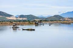 Fisherman at Tac river, Nha Trang, Khanh Hoa, Vietnam Stock Images