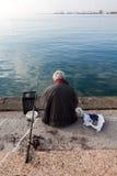 Fisherman in Thermaikos - Thessaloniki, Greece Royalty Free Stock Photo