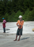 Fisherman on Tiku beach Royalty Free Stock Images