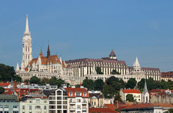 Fisherman towers and Matthias church Budapest Royalty Free Stock Photos