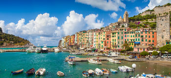 Fisherman town of Portovenere, Liguria, Italy Stock Photos