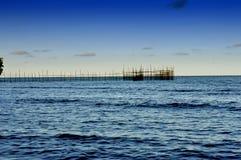 Tanjung Batu Beach in Tarakan Indonesia. Fisherman trap on Tanjung Batu Beach in Tarakan Indonesia Royalty Free Stock Photos