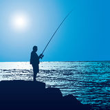 Fisherman (vector) Royalty Free Stock Images