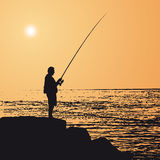 Fisherman (vector) Stock Photo