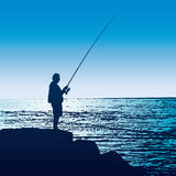 Fisherman (vector) Stock Image