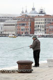 Fisherman in Venice Royalty Free Stock Photo