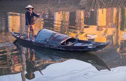 Fisherman in Vietnam Stock Photo