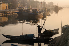 Fisherman in Vietnam Stock Images