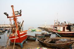 Fisherman village Royalty Free Stock Images
