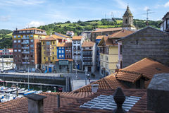 Fisherman village of Bermeo in the coast of Basque Country Europ Stock Images