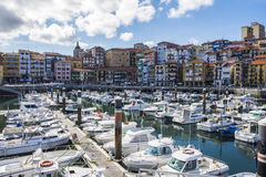 Fisherman village of Bermeo in the coast of Basque Country Europ Stock Photo