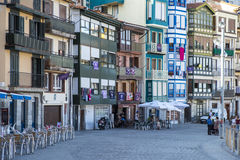 Fisherman village of Bermeo in the coast of Basque Country Europ Royalty Free Stock Images