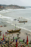 Fisherman village in Ghana Stock Images