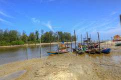 Fisherman village at Kuantan Pahang Malaysia Royalty Free Stock Photos