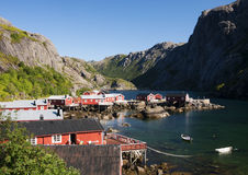 Fisherman village, Lofoten Royalty Free Stock Images