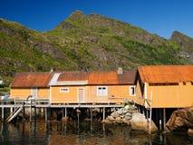 Fisherman village, Lofoten Stock Images