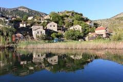 Fisherman village, Montenegro Stock Photography