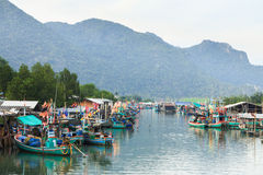 Fisherman village near Hua Hin Stock Photography