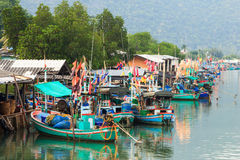 Fisherman village near Hua Hin Stock Photos