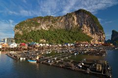 Fisherman village at Panyi island, Phang-nga, Thai Royalty Free Stock Images