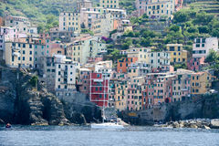 Fisherman village Riomaggiore Royalty Free Stock Photos