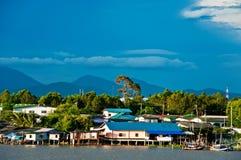 Fisherman village in Thailand Royalty Free Stock Image