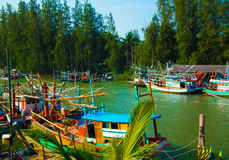 The fisherman village. In thailand Royalty Free Stock Images