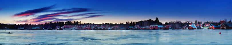 Fisherman village at winter Royalty Free Stock Photography