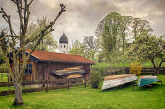 Fisherman village in Women s island, Germany Royalty Free Stock Image