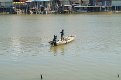 Fisherman wooden boat Royalty Free Stock Images