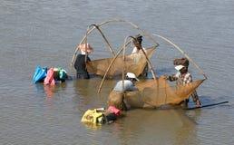 Fisherman at work Stock Photos