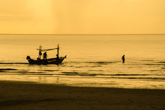 Fisherman work Royalty Free Stock Images